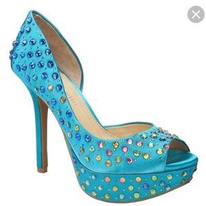 Gianni Bini Larissa rhinestone ombre d'orsay heels